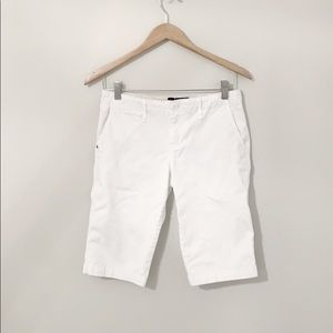 SANCTUARY White Denim Bermuda Shorts